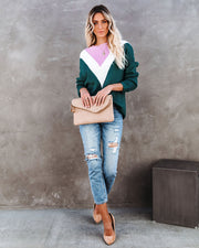 Flavor Of The Season Chevron Knit Sweater view 9