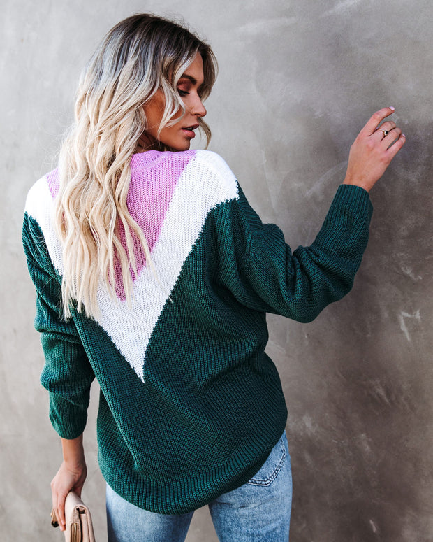 Flavor Of The Season Chevron Knit Sweater view 2