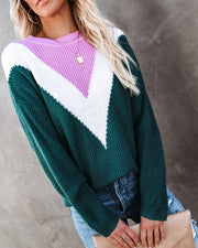 Flavor Of The Season Chevron Knit Sweater view 5