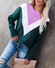 Flavor Of The Season Chevron Knit Sweater view 1