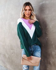 Flavor Of The Season Chevron Knit Sweater view 7