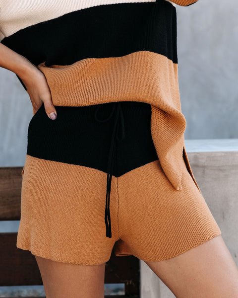 Flavour Colorblock Knit Shorts - FINAL SALE