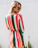 Flirtatious Striped Twist Dress