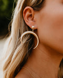 Flitz Crescent Earrings