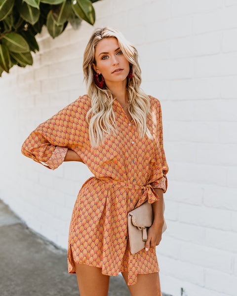 Floating Lotus Button Up Dress