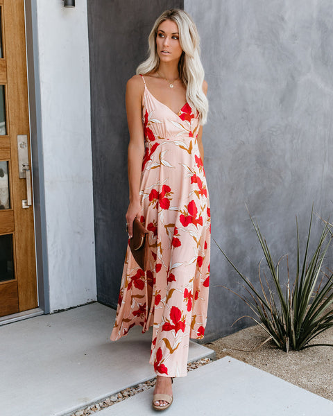 Floral Frenzy Adjustable Maxi Dress - FINAL SALE