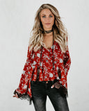 First Date Floral Blouse