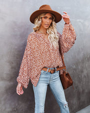 Flower With Love Button Down Top