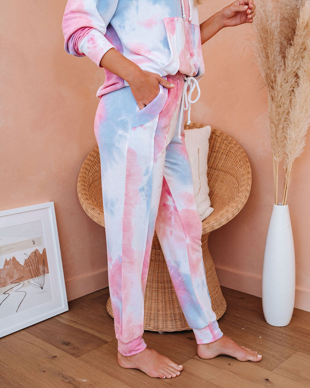 Flow With It Pocketed Tie Dye Knit Joggers - FINAL SALE