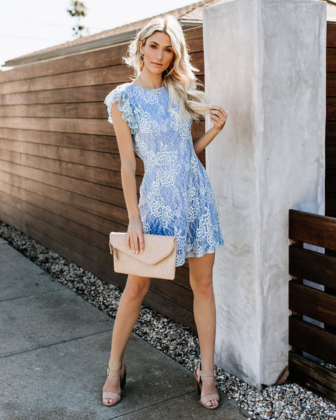 Fly Me To The Moon Floral Lace Dress