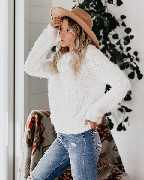 Foggy Days Cowl Neck Sweater