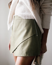 Force Of Fashion Cotton Wrap Skort - Palm Leaf