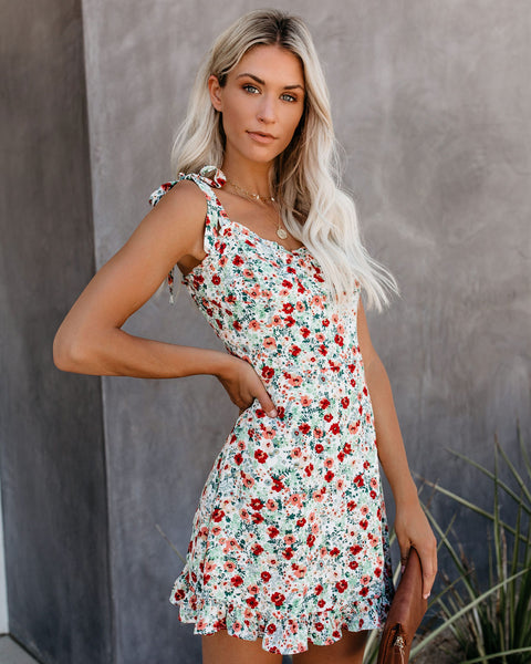 Forever Summer Floral Tie Dress