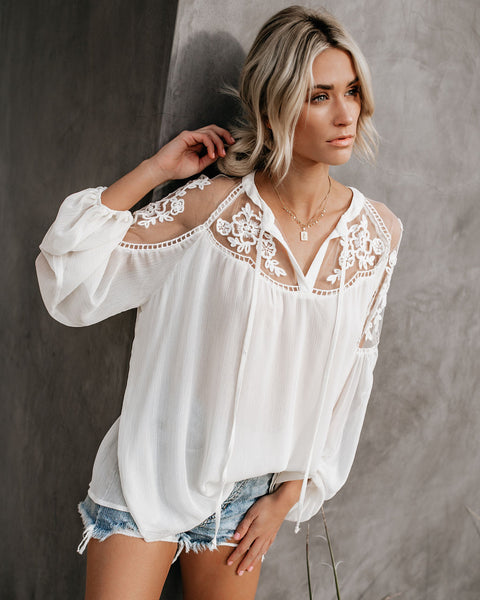 a6bd4ff1d8fed Formal Invitation Lace Blouse - Cream