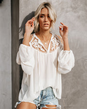 Formal Invitation Lace Blouse - Cream view 7