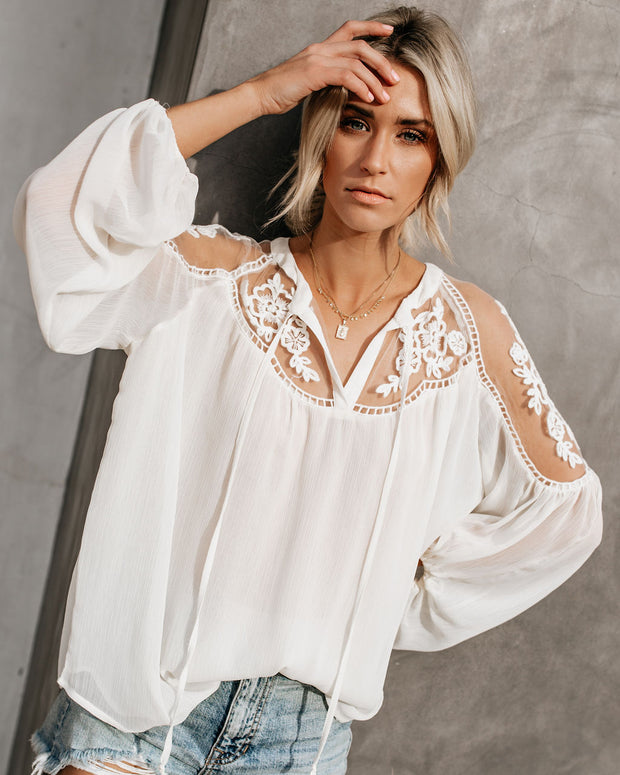 Formal Invitation Lace Blouse - Cream view 8
