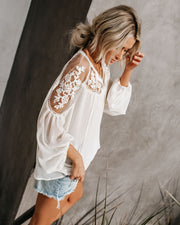 Formal Invitation Lace Blouse - Cream view 10