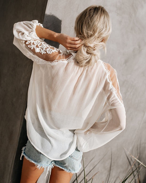 Formal Invitation Lace Blouse - Cream view 2