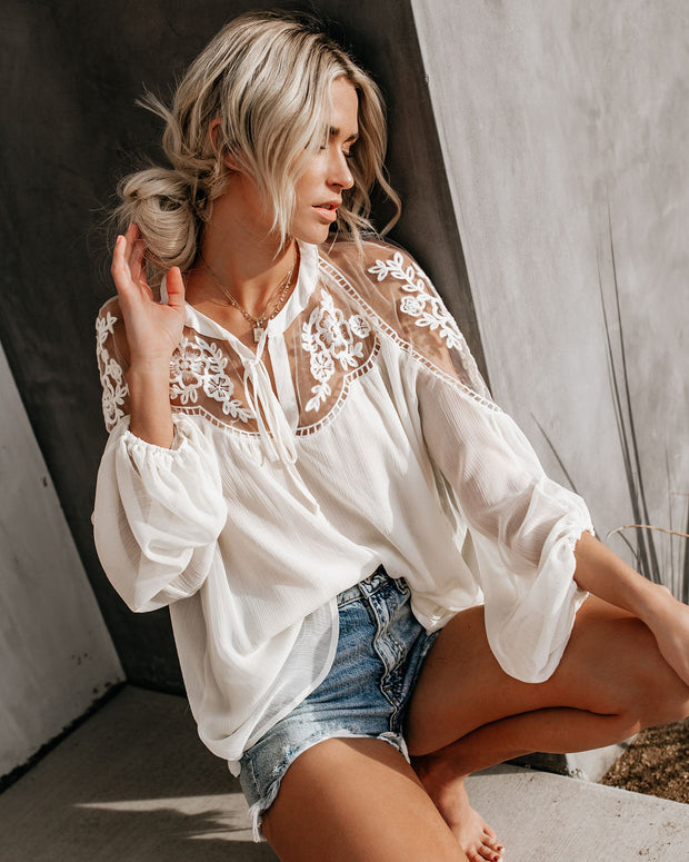 Formal Invitation Lace Blouse - Cream view 5