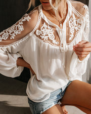 Formal Invitation Lace Blouse - Cream view 4