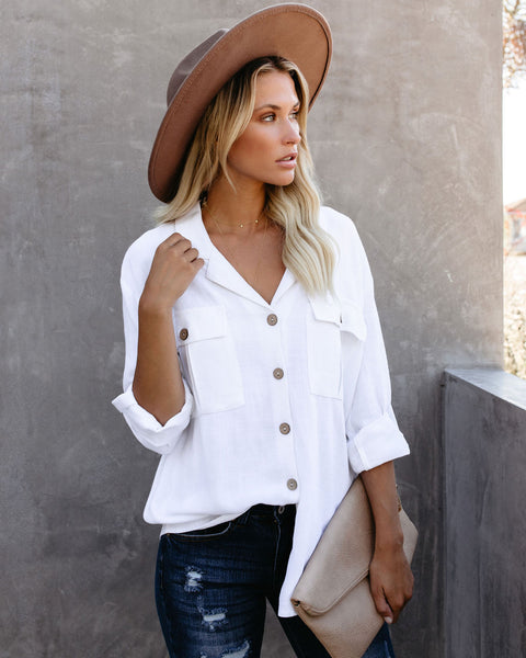Forum Button Down Pocket Blouse