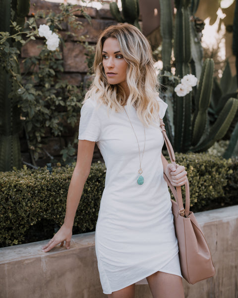 PREORDER - Perfect Fit Ruched Shirt Dress - Ivory