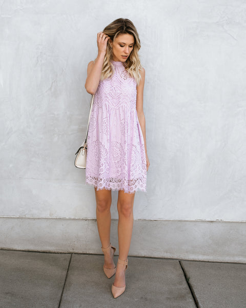 Tea Party Lace Dress - Lilac