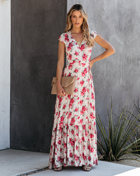 Foxglove Wrap Maxi Dress - FINAL SALE