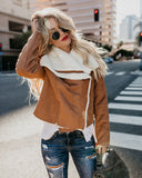 Frankfurt Pocketed Faux Suede + Shearling Jacket