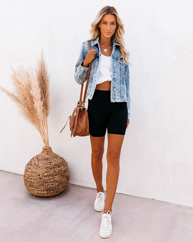 Frankie Distressed Denim Jacket