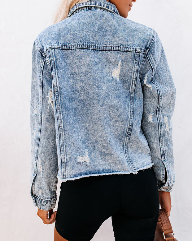 Frankie Distressed Denim Jacket view 2