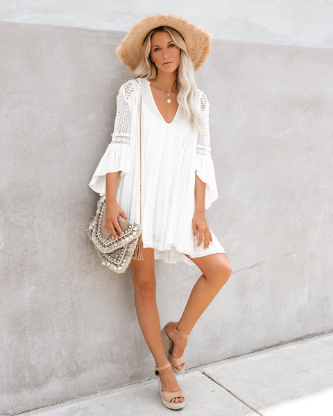 PREORDER - Free Form Crochet Lace Tunic