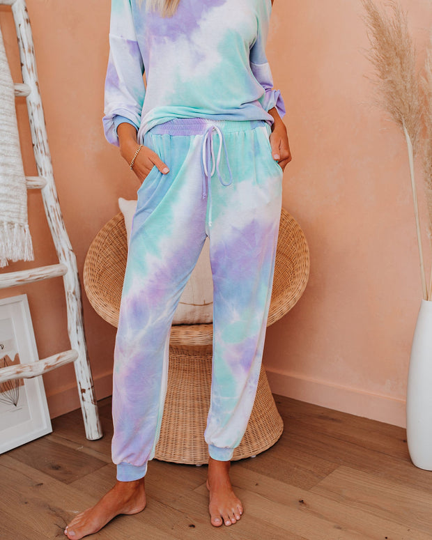 Freestyle Pocketed Tie Dye Knit Joggers