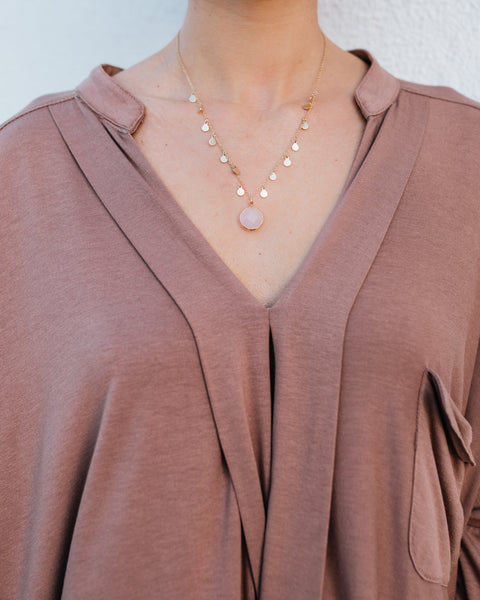 Marnie Charm Necklace - Blush