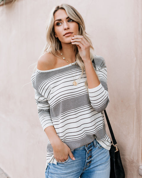 Friends Forever Striped Knit Top