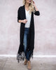 Natalie Duster Cardigan - Black