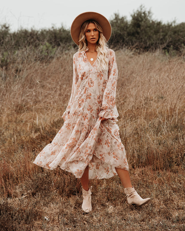 Frolic Floral Tiered Boho Midi Dress - FINAL SALE