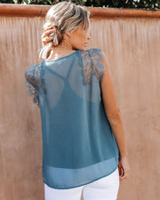 From A Dream Lace Top - Slate