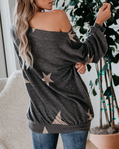 From Within Boat Neck Knit Star Pullover - FINAL SALE