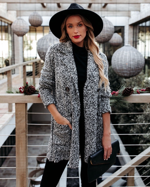 Frosted Windows Pocketed Coat - FINAL SALE
