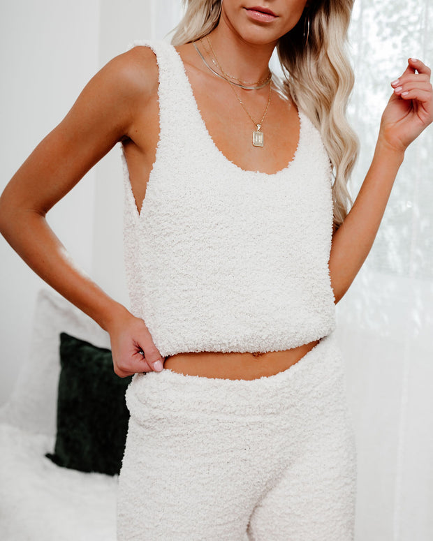 Frost Filled Fuzzy Knit Crop Tank
