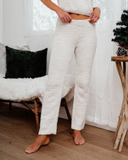 Frost Filled Fuzzy Knit Pants