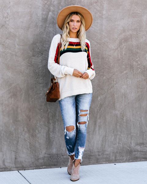 Full House Striped Pullover Sweater