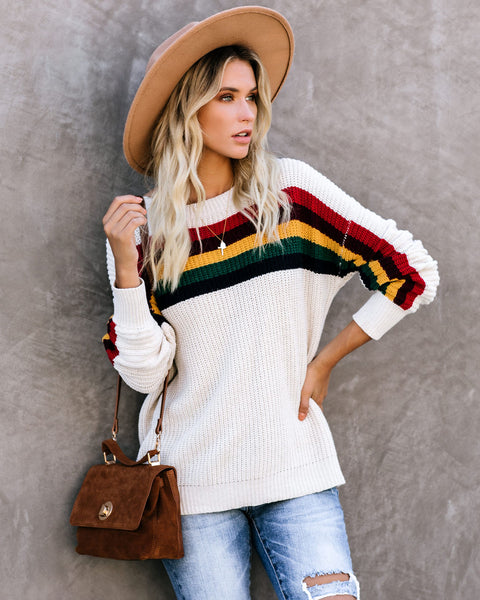 Full House Striped Pullover Sweater - FINAL SALE
