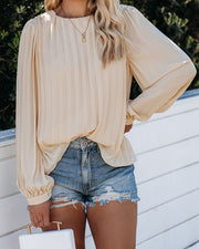 Full Time Pleated Blouse