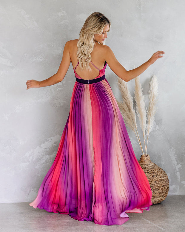 Fusion Pleated Maxi Dress - FINAL SALE
