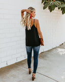 Ganache Button Down Adjustable Tank - Black