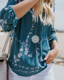 Garden Lotus Blouse - FINAL SALE