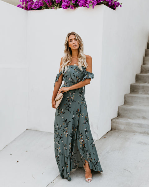 Garden State Off The Shoulder Maxi Dress