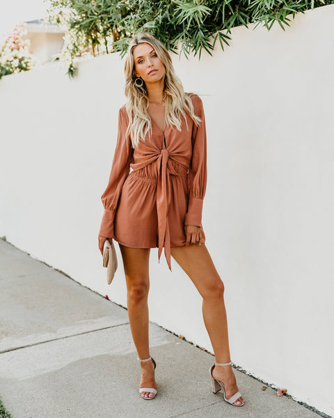 Georgia On My Mind Pocketed Romper